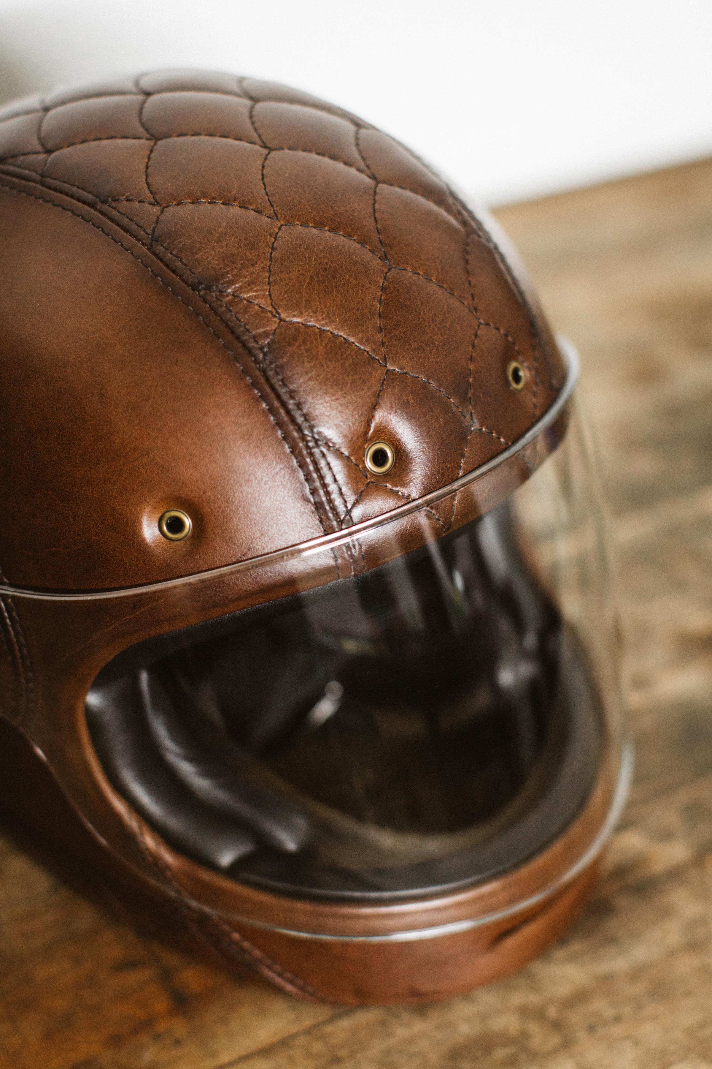 Bell Motorcycle Helmet >> Larson Upholstery - Bell Bullitt Custom - Sideroist
